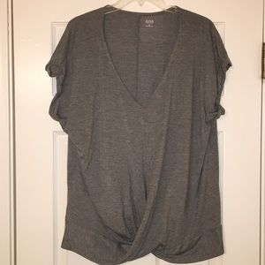 A.n.a. XL Gray Knotted Blouse